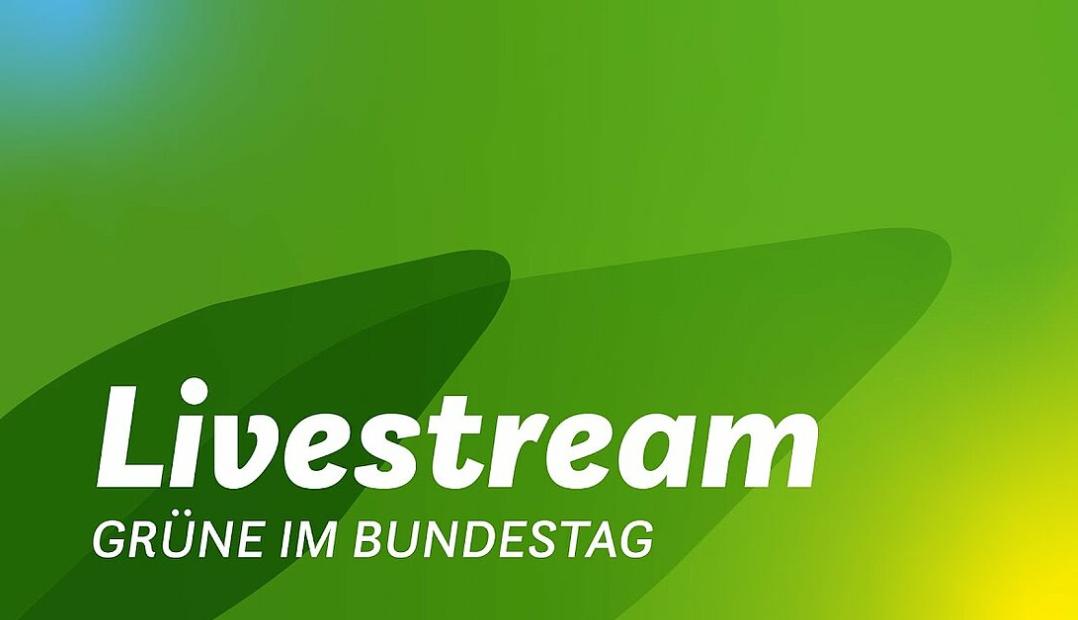 """Vorschaubild """"Livestream Grüne im Bundestag"""""""