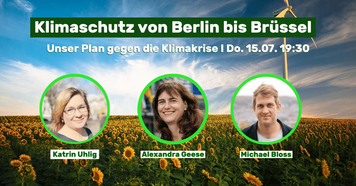 Einladung Klimaschutz von Berlin bis Brüssel