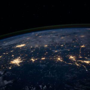 Bild der Erde aus dem Weltraum aufgenommen